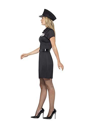Smiffys-45505M Disfraz de policía de Reserva, con Vestido, Gorra y cinturón, Color Negro, M-EU Tamaño 40-42 (Smiffy'S 45505M)