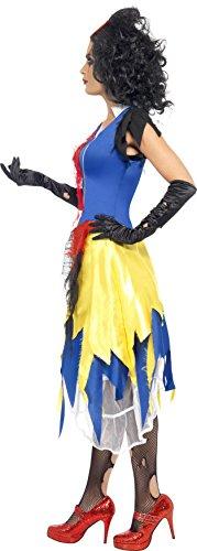 Smiffys Disfraz de Blanca Nieves tenebrosa, con Vestido y Lazo