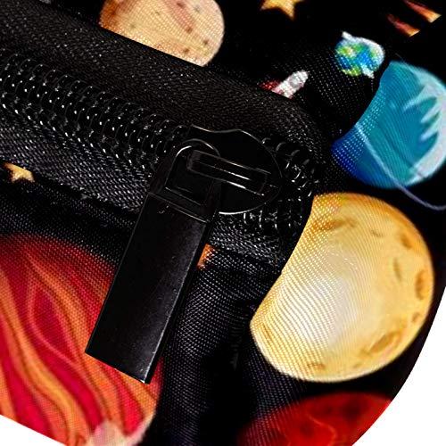 Space Planets Patrón Universo Estuche Lápiz Lápiz Bolsa Bolsa con Cremallera Organizador de Monedas Bolsa de Papelería Bolsa de Maquillaje Cosméticos Bolsa para Mujeres Adolescentes Ni