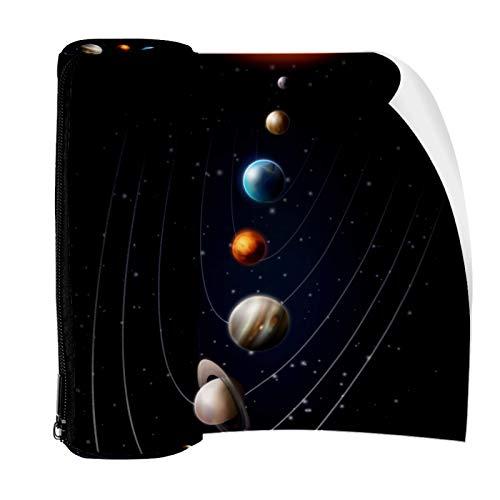 Space Planets Planets Universo Estuche para lápices con cremallera, organizador de monedas, bolsa de papelería, bolsa de maquillaje, bolsa de cosméticos para mujeres, adolescentes, niñas y niños