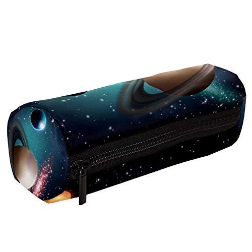 Space Planets Starry Sky Galaxy Estuche para lápices con cremallera, organizador de monedas, bolsa de papelería, bolsa de maquillaje, bolsa de cosméticos para mujeres, adolescentes, niñas y niños