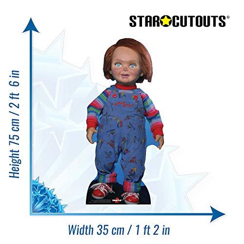 Star Cutouts SC1326 Muñeca de los chicos buenos ChuckyChild's Play perfecta para Halloween, amigos y fans, multicolor