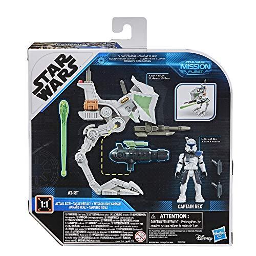 Star Wars Mission Fleet Expedition Class Capitán Rex Clon Combat Figura y vehículo Escala 6 cm, Juguetes para niños a Partir de 4 años
