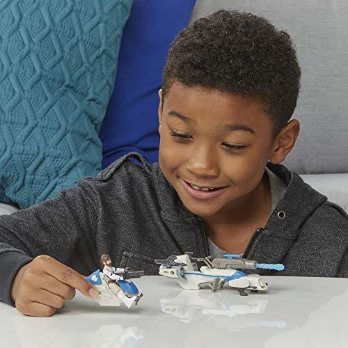 Star Wars Mission Floet Expedition Class OBI-WAN Kenobi Jedi Speeder Chase Figura y vehículo a Escala de 6 cm, Juguetes para niños de 4 años en adelante