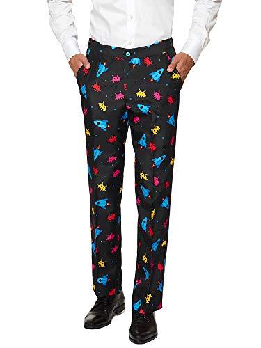 Suitmeister Men Suit Juego de Pantalones de Traje de Negocios, Videogame, M para Hombre