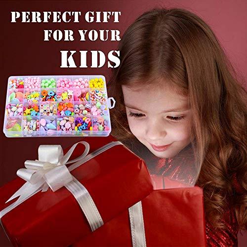 SUNNYPIG Jeudy Bracelet Making Kits para niñas, niños Juego de Cuentas de Bricolaje Regalo para niños de 4-9 años Regalo de cumpleaños para niñas de 4-9 años Regalo de cumpleaños Edad 3 4 5 6 7 Niñas