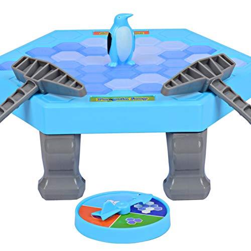 Sunnyushine Juegos de mesa rompecabezas, salvavidas triturado Pingüino, Knock Ice Cubes Block Balance Board Game, Desktop Paternity Interactive Game