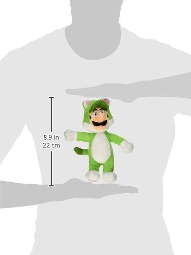 Super Mario Peluche de Gato Luigi Coleccionable de Peluche