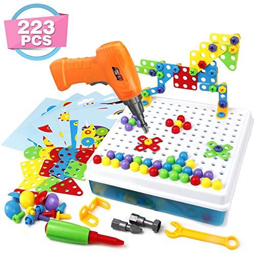 Symiu Mosaico para Niños Rompecabezas 3D Juego de Bloques Construcción para Niños Kit de Mosaico Stem 223 Piezas para Juguete Niños Niña 3 4 5 Años