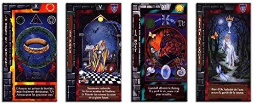 Tarot El Señor de los Anillos – Juego de 78 tarjetas – Tarjetas de visión con explicación de 78 hojas (libro en FR) – Juego de Tarot Divinatorio para descubrir