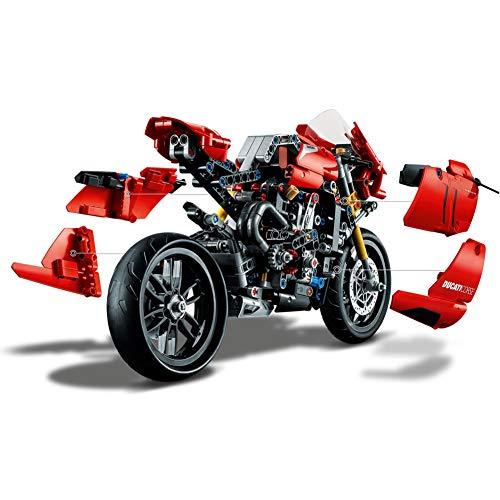 Technic DucatiPanigaleV4RMotocicleta,Modelo de Exhibición Superbike coleccionable, multicolor (Lego ES 42107)