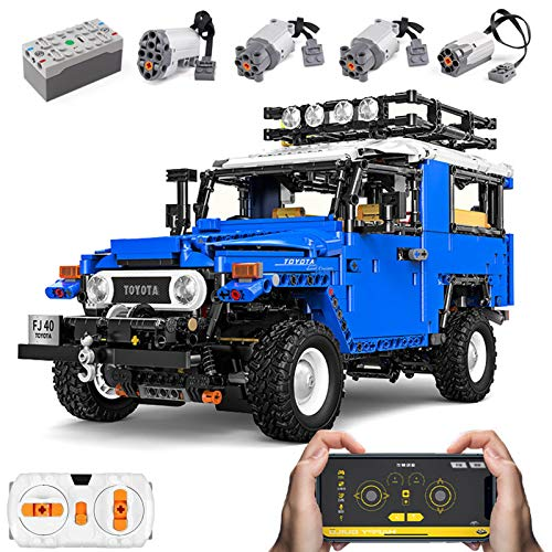 Technic Extreme Off-Road Vehicle para Toyota J40, Kit De Modelo De Construcción De Coche Todoterreno, Bloques De Terminales 2101 Compatibles con Lego,El Modelo De Construcción No Es Creado por Lego