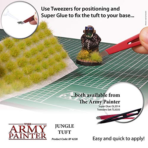 The Army Painter | Jungle Tuft | Battlefields, XP - Terrain Model Kit for Miniature Bases and Dioramas - 77 Pcs, 3 Sizes