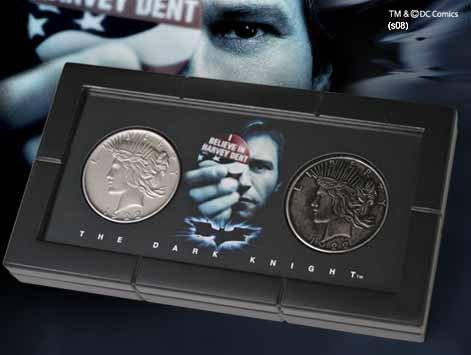 The Noble Collection Batman Harvey Dent - Juego de Monedas de Dos Caras