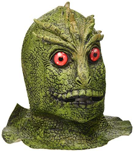 The Rubber Plantation TM 619219292344 - Disfraz de monstruo marciano extranjero de reptil de lagarto para hombre, disfraz de Halloween, unisex, adulto, talla única