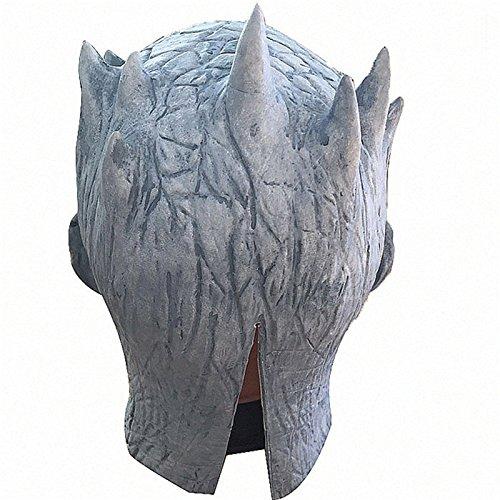 Thematys - Máscara de noche de rey de noche para senderismo, color blanco, perfecta para carnaval y Halloween, de látex, unisex, talla única