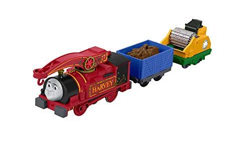 Thomas and Friends Tren de Juguete de la Locomotora Helpful Harvey, Juguetes Niños 3 Años (Mattel FJK53)
