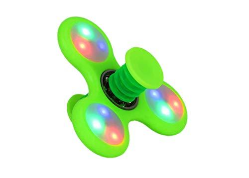TOYLAND Spinnerooz Light Up Hand Spinner Juguete de Novedad - Fidget Spinner - 5 en 1 - Salta, rebota, Gira - 1 al Azar