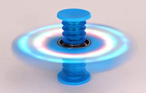 TOYLAND Spinnerooz Light Up Hand Spinner Juguete de Novedad - Fidget Spinner - 5 en 1 - Salta, rebota, Gira (Azul)
