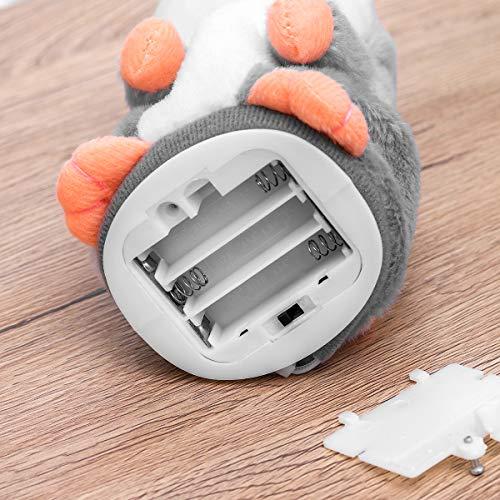 Toyvian El Juguete de Peluche Divertido de Hamster parlante Repite lo Que Dices. Juguete Interactivo de Juguete Relleno de Registro electrónico 1pcs (Gris, no Incluye baterías)