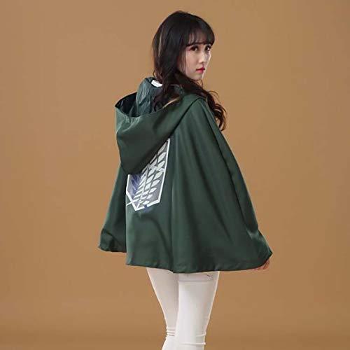 午後の紅茶 Traje de Cosplay de Anime Attack on Titan Aot Capa Tunica Chal Saco túnica