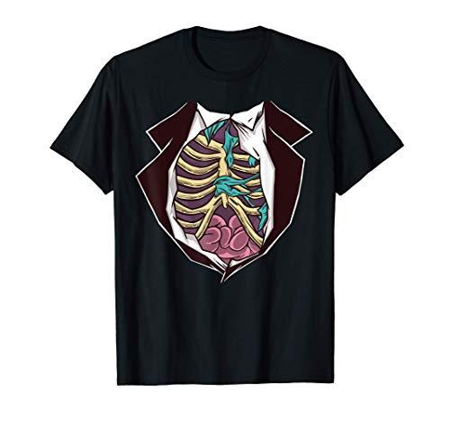 Traje de disfraz de zombie de Halloween - una idea fácil de Camiseta