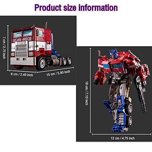 Transformers 5 The Last Knight puede transformar manualmente Optimus Prime, Transformers: The Last Knight-Commander Optimus Prime, robot transformador de juguete, regalo de cumpleaños o Navidad