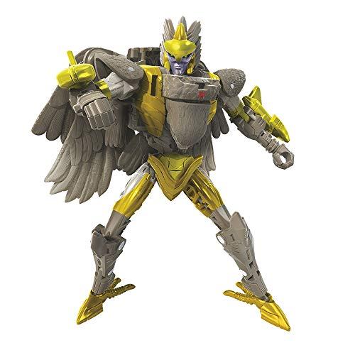 Transformers Toys Generations War for Cybertron: Kingdom Deluxe WFC-K14 Airazor Figura de acción para niños a Partir de 8 años, 5.5 Pulgadas