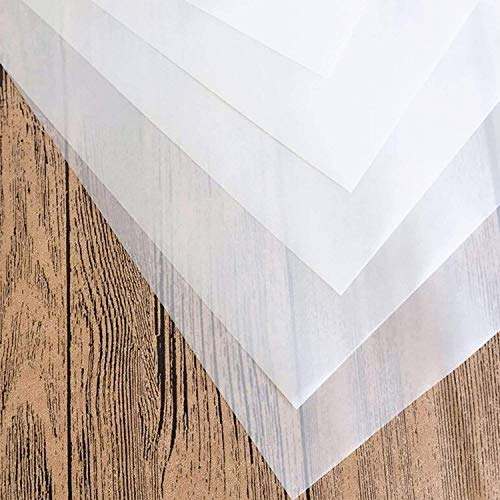 Tritart 125 Hojas Papel Transparente Blanco A4 de 100 g/m² Papel Translúcido Calco e Impresión en ambos lados para Manualidades, Bosquejos, Sketchs, y más