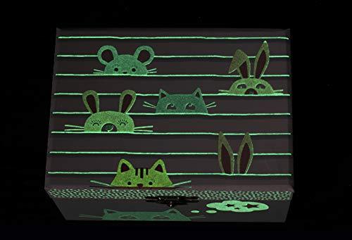 Trousselier - Cofre Musical Fosforescente Chat, Verde Celadon (S50804)