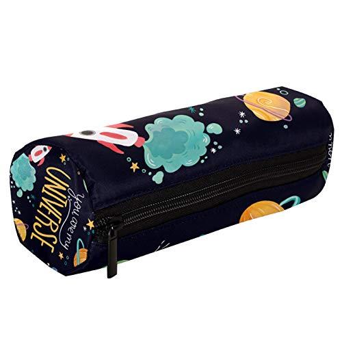 Universe Planets Space - Estuche para lápices con cremallera, organizador de monedas, bolsa de papelería, bolsa de maquillaje para mujeres, adolescentes, niñas y niños