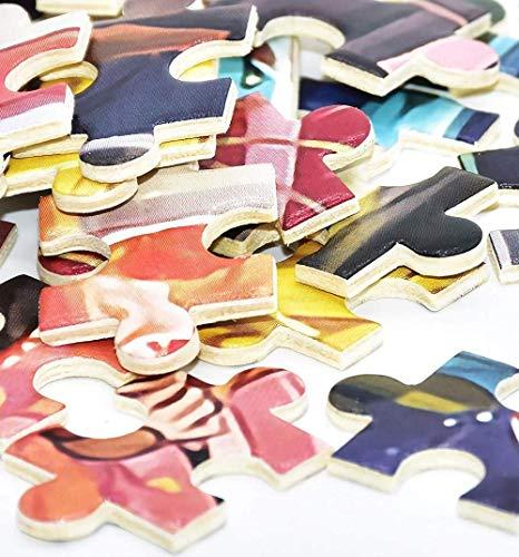 VinMea Rompecabezas de madera de 500 piezas para adultos y adolescentes, juguetes de cumpleaños, castillo Hogwarts en las islas de la aventura, rompecabezas de Florida