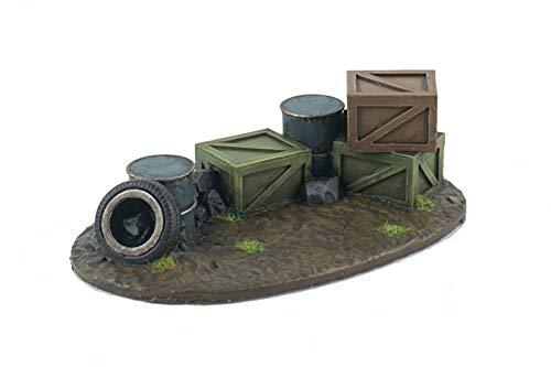 War World Gaming War-Torn City - Barricadas Callejeras x 2 - Escala 28mm/Heroica, Sci-Fi, Wargame Futurista, Miniaturas, Apocalipsis Zombi, Necromunda, Wargaming