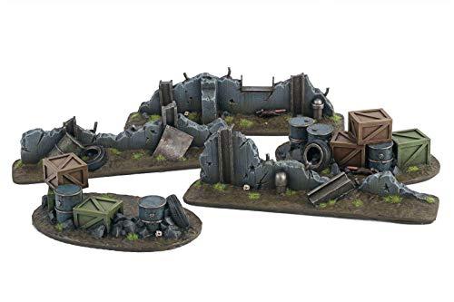 War World Gaming War-Torn City - Campo de Batalla Urbano y Kit Escénico - Escala 28mm/Heroica, Sci-Fi, Wargame Futurista, Miniaturas, Apocalipsis Zombi, Necromunda, Wargaming