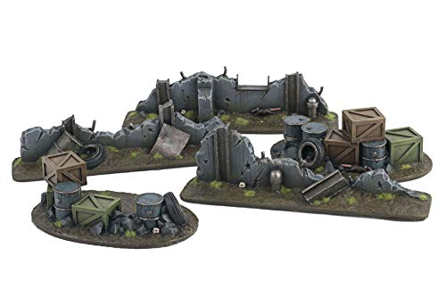 WarWorldGamingWar-Torn City KitEscombros, Barricadas y Edificios – Escala 28mm/Heroica, Sci-Fi, Wargame Futurista, Miniaturas, Apocalipsis Zombi, Necromunda, Wargaming