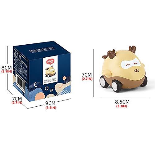Watopi - Juego de 1 carro de regreso mini coche de juguete para bebés y niños