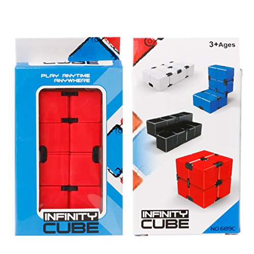 WE-WHLL Infinity Cube Mini versión Stress Relief Fidget Red Funny Anti Anxiety Toy