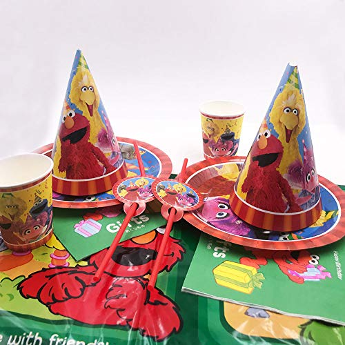 WENTS Sesame Street The Party Supplies Juego de Decoración, 58 Piezas Suministros de Fiesta Sonic para Cumpleaños de Niños Cartoon Anime Theme Artículos para Fiesta de Cumpleaños