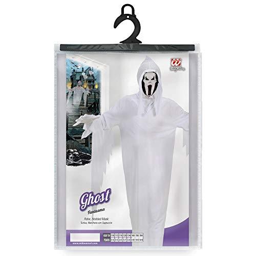 WIDMANN 02538 - Disfraz infantil de fantasma (con capa y máscara, talla 158) , color/modelo surtido