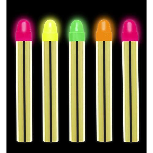 WIDMANN VD-WDM50004 - Juego de 5lápices de maquillaje fluorescentes unisex para adulto, talla única