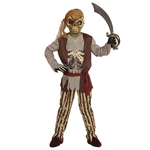 WIDMANN wdm03978?Disfraz para niños Pirata de Barco Fantasma (158cm/11?13años), marrón, S