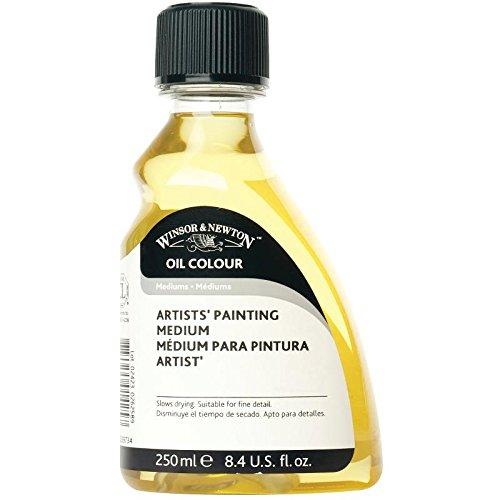 Winsor & Newton 3039734 Aceite Para picturas, disminuye la velocidad del secado, botella de 250 ml