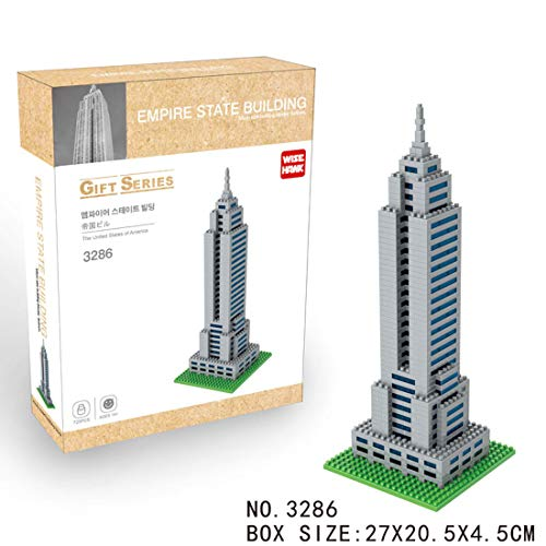 Wise Hawk Micro Blocks Empire State Building Gift Series - 723 Piezas