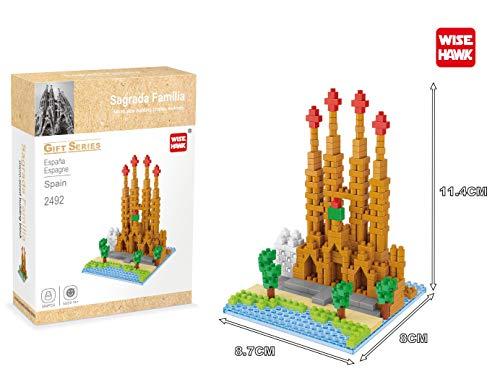 Wise Hawk Sagrada Familia de Barcelona. Modelo de Arquitectura para armar con nanobloques