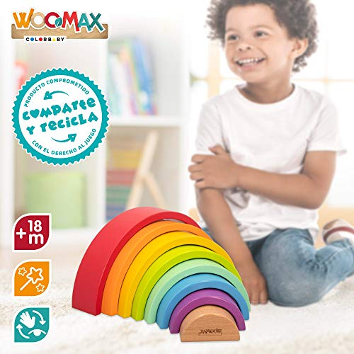 WOOMAX - Arcoíris de madera (46479)