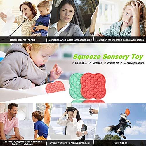 XINYA BAO Burbuja sensorial Push Pop It, Juguetes sensoriales Fidget Squeeze Toys, Juguetes sensoriales para niños Adultos Herramientas antiestrés y Anti ansiedad Juguetes, Doc