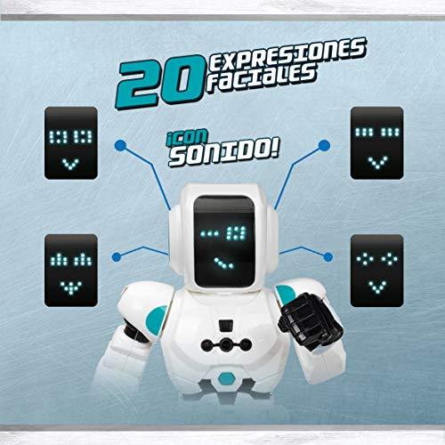 Xtrem Bots Robbie, robótica niños, Robot con Sensor de Movimiento y Control Remoto programable. Juguete Robots Inteligente, Color Blanco/Azul (XT380831)