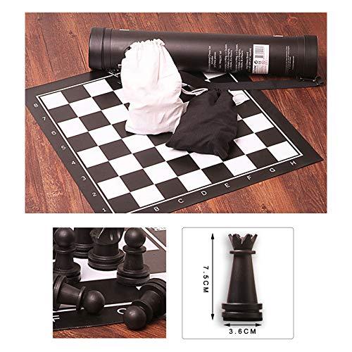 XWW Juego de Mesa para niños con Bolsas de Almacenamiento, Tablero de ajedrez portátil de plástico para Amantes y aprendices del ajedrez, estimula tu Cerebro