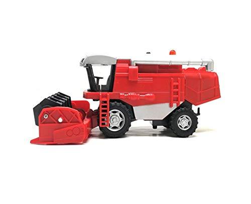 XYAN 01:32 Caliente de la aleación Modelo de cosechadora agrícola, Juguete Weeder Granja, Juguete de los niños, el Sonido y la luz simulada (Color : Rojo)