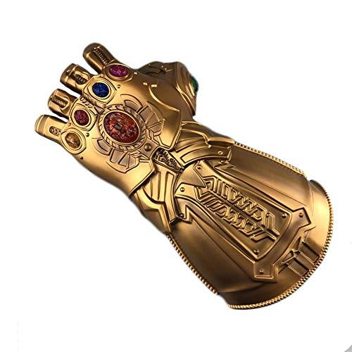yacn Guante de guantelete infinito Thanos para adulto con guante de luz LED Avengers 4 Movie Toy (niño)